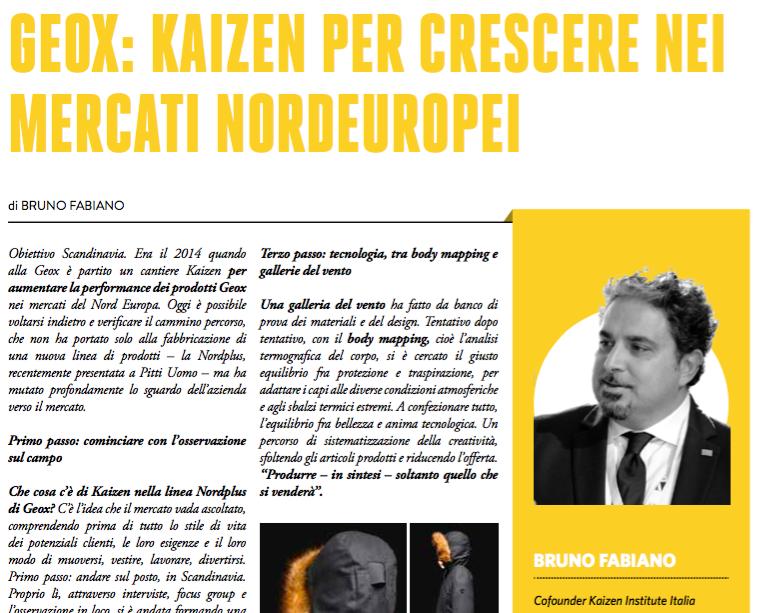 Bruno Fabiano di Kaizen Institute Italia su Storie di Eccellenza