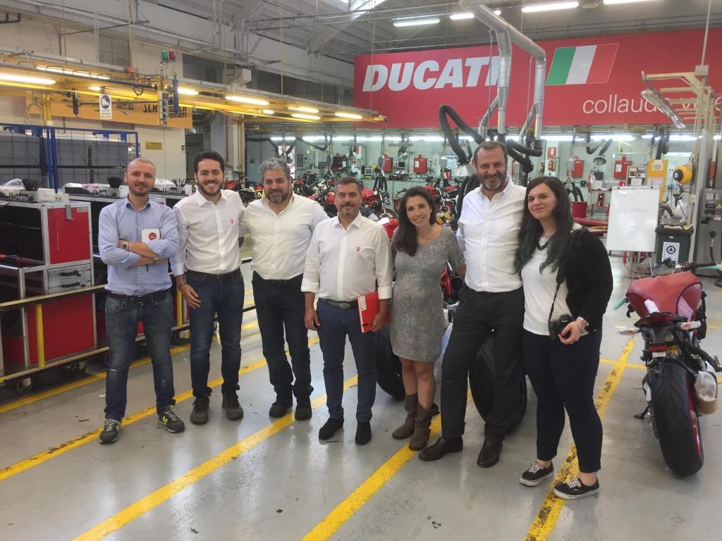 Il team del progetto durante l'audit per il Kaizen Award Italia 2018